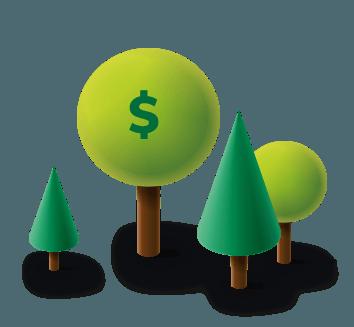 dinero en crecimiento