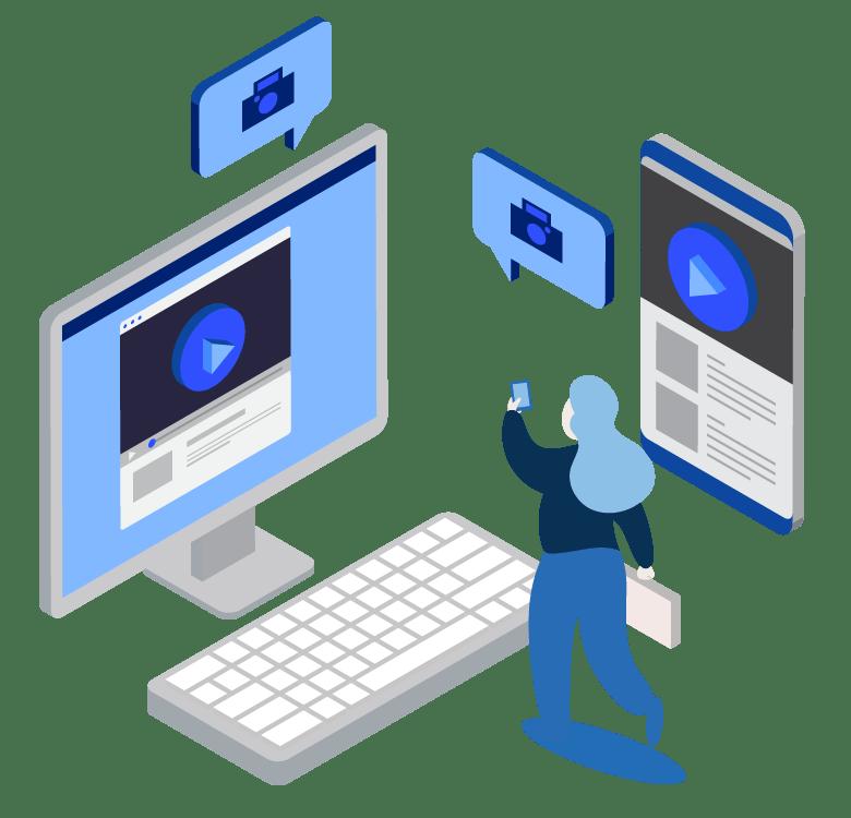 computador y smartphone